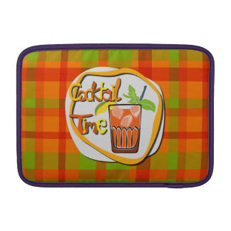 """Illustration Cocktail with fruit """"Cocktail Time"""" Sleeve For MacBook Air"""