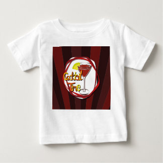 """Illustration Cocktail with lemon """"Cocktail Time"""" Baby T-Shirt"""