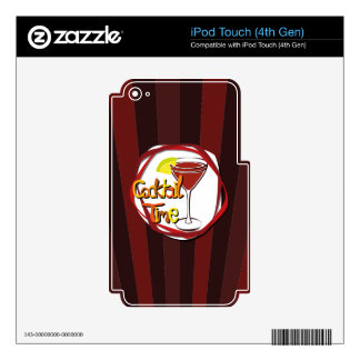 """Illustration Cocktail with lemon """"Cocktail Time"""" Skins For iPod Touch 4G"""