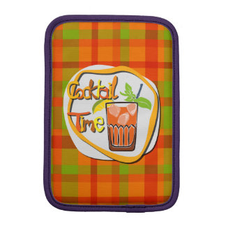 """Illustration Cocktail with lemon """"Cocktail Time"""" Sleeve For iPad Mini"""