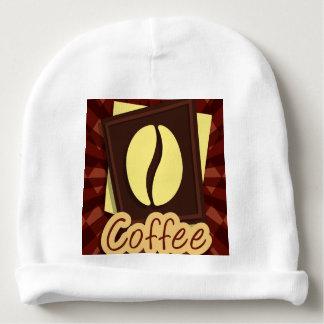 Illustration coffee bean baby beanie
