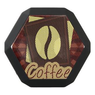 Illustration coffee bean black bluetooth speaker