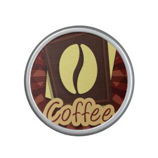 Illustration coffee bean bluetooth speaker