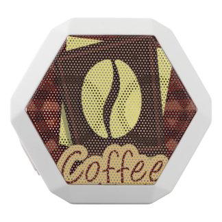 Illustration coffee bean white bluetooth speaker