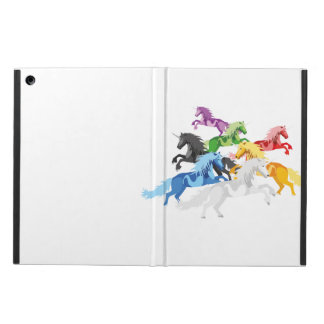 Illustration colorful wild Unicorns Case For iPad Air