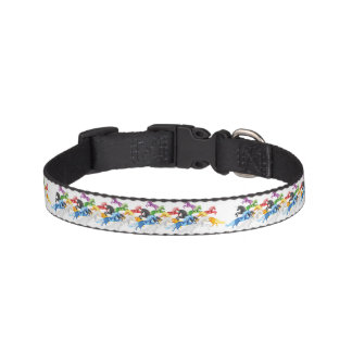 Illustration colorful wild Unicorns Pet Collar