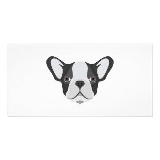 Illustration cute French Bulldog Card