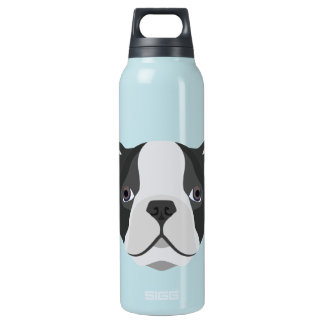 Illustration cute French Bulldog Insulated Water Bottle