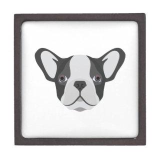 Illustration cute French Bulldog Jewelry Box