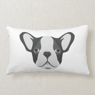 Illustration cute French Bulldog Lumbar Pillow