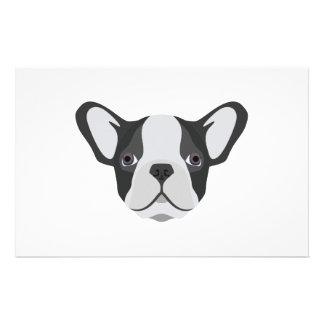 Illustration cute French Bulldog Stationery