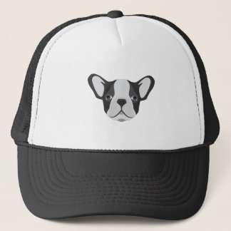 Illustration cute French Bulldog Trucker Hat