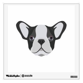 Illustration cute French Bulldog Wall Sticker