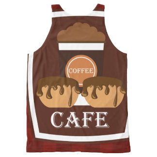 Illustration delicious cup of coffee All-Over print tank top