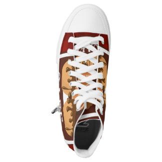 Illustration delicious cup of coffee High-Top sneakers