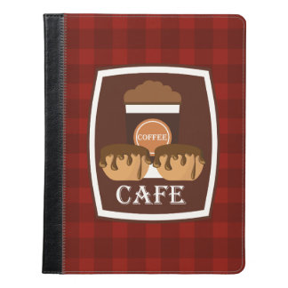 Illustration delicious cup of coffee iPad case