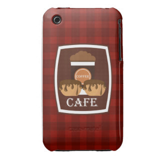 Illustration delicious cup of coffee iPhone 3 Case-Mate case