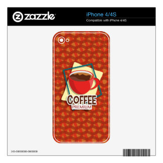 Illustration delicious cup of coffee iPhone 4S skin