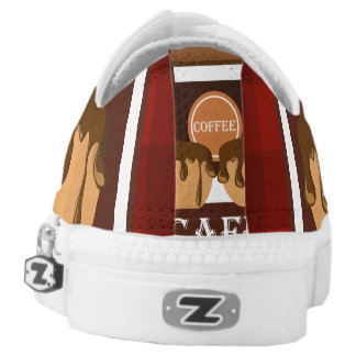 Illustration delicious cup of coffee Low-Top sneakers
