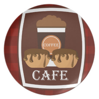 Illustration delicious cup of coffee plate