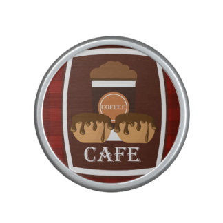 Illustration delicious cup of coffee speaker