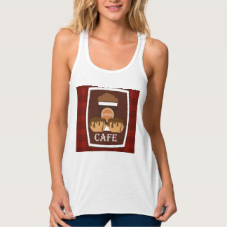 Illustration delicious cup of coffee tank top