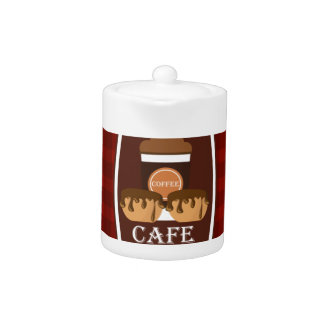 Illustration delicious cup of coffee teapot