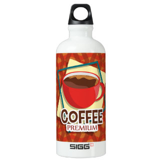 Illustration delicious cup of coffee water bottle