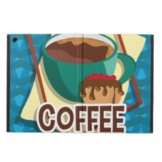 Illustration delicious cup of coffee with a muffin cover for iPad air
