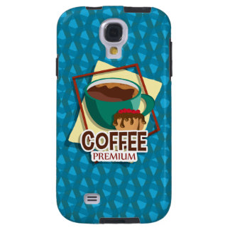 Illustration delicious cup of coffee with a muffin galaxy s4 case