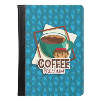 Illustration delicious cup of coffee with a muffin iPad air case