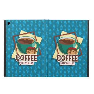 Illustration delicious cup of coffee with a muffin iPad air cover