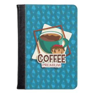 Illustration delicious cup of coffee with a muffin kindle case