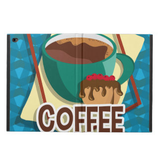 Illustration delicious cup of coffee with a muffin powis iPad air 2 case