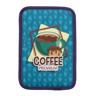 Illustration delicious cup of coffee with a muffin sleeve for iPad mini
