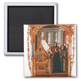 Illustration  depicting  choir singing the magnet