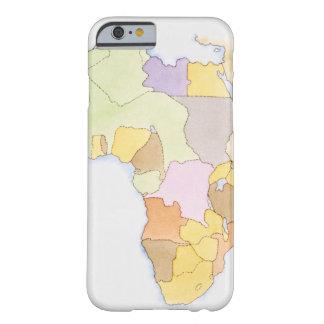 Illustration der afrikanischen Gebiete und der Sta Barely There iPhone 6 Case