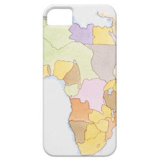 Illustration der afrikanischen Gebiete und der Sta iPhone SE/5/5s Case