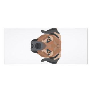 Illustration Dog Brown Labrador Card