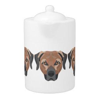 Illustration Dog Brown Labrador Teapot