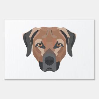 Illustration Dog Brown Labrador Yard Sign
