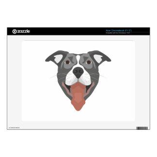 Illustration Dog Smiling Pitbull Skins For Acer Chromebook