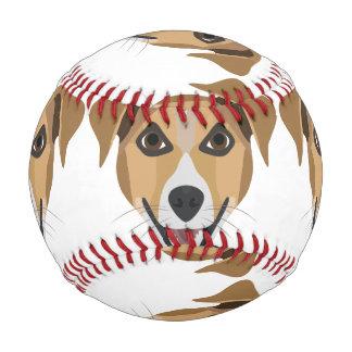 Illustration Dog Smiling Terrier Baseball