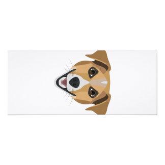Illustration Dog Smiling Terrier Card