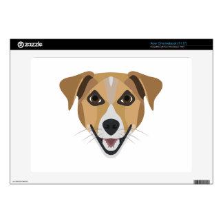 Illustration Dog Smiling Terrier Decal For Acer Chromebook