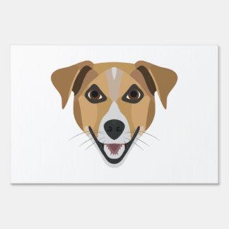 Illustration Dog Smiling Terrier Sign
