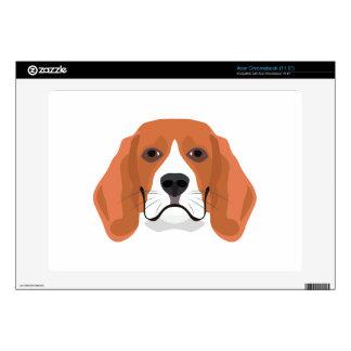 Illustration dogs face Beagle Acer Chromebook Decals