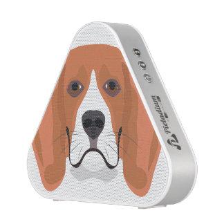 Illustration dogs face Beagle Bluetooth Speaker