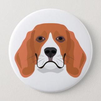 Illustration dogs face Beagle Button