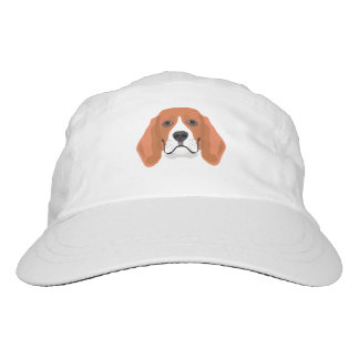 Illustration dogs face Beagle Headsweats Hat